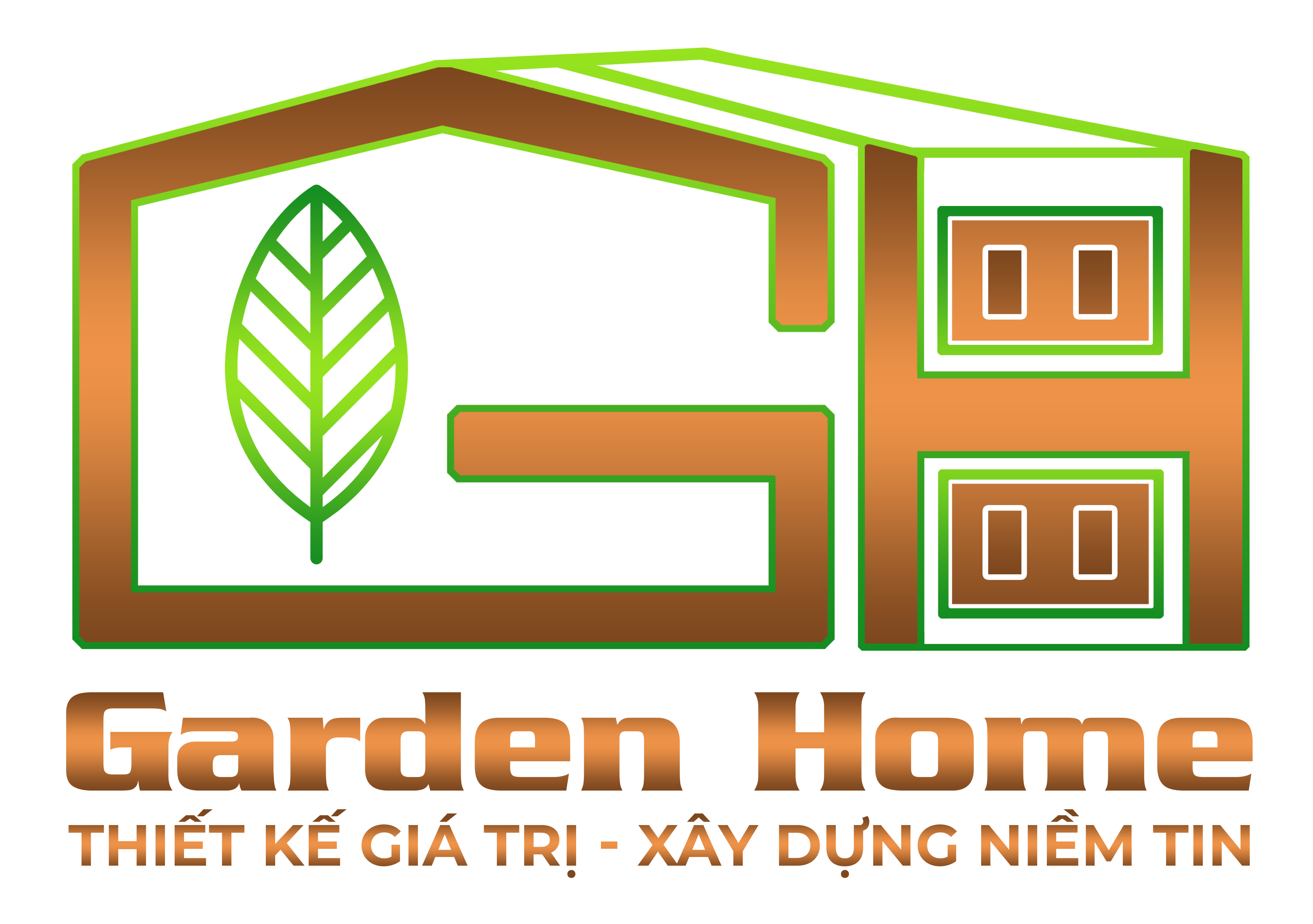 logo Garden Home - Kiến Trúc Nội Thất Nhà Xanh
